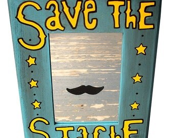 Save the Stache Mirror Funny Geekery by Debbie Is Adopted Dad Grad Gift
