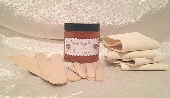 Sugar Wax Natural Hair Removal Sugaring Kit  - 4 ounce size