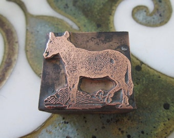 Horse Pony Antique Letterpress Printing Block