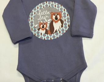 Gender Neutral Woodland Animal Onesie - Baby Shower Gift-Applique Layette