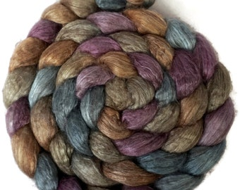 Handpainted Yak Silk Roving - 4 oz. RIVENDELL - Spinning Fiber