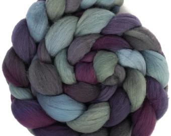 Handpainted Targhee Wool Roving - 4 oz. EMILY - Spinning Fiber