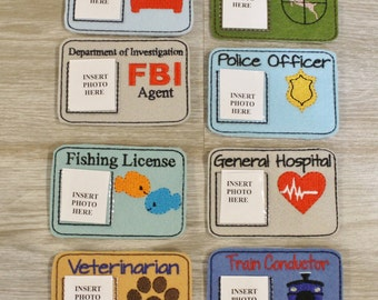 Pretend Play License ID Card Badge