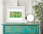 flower garden no.03 - reproduction print, spring, blooms