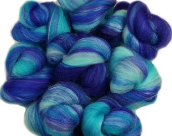 Fairy Tale - mini batts (2 oz) superwash superfine merino wool and silk and sparkle -- Literary Series