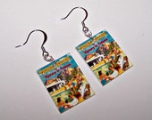 "Trixie Belden ""Mystery in Arizona"" Book Cover Earrings"