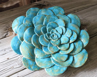 Succulant Style Wall Flower Sculpture