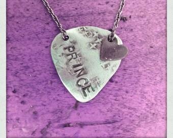 guitar pick necklace prince
