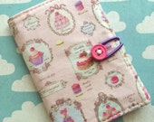 French Macarons - Pocket Pouch - Wallet - Business Card Holder / ID Case / Photo Holder