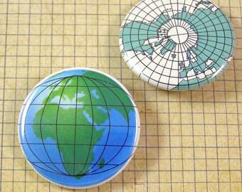 World Globe Pinback Buttons