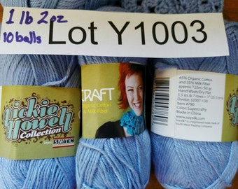 10 balls Yarn DESTASH LOT Y1003 Please Read Description 1.2 pounds Vickie Howell Craft Cotton and Milk Periwinkle Yarn Fiber Knitting.