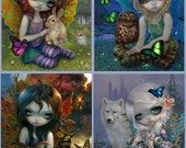 Four Seasons Set of FOUR 8x10 art prints by Jasmine Becket-Griffith SIGNED Spring Summer Autumn and Winter