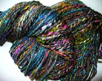 Handspun Multi Fibered Yarn Knitting Crochet