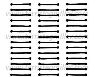 """Barbells 6x6"""" Stencil"""