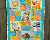 Jungle Animals Baby Quilt FREE SHIPPING