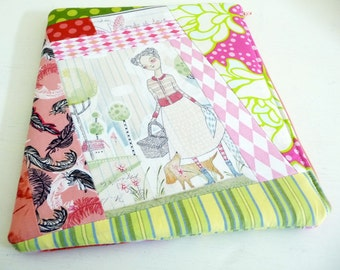 Womens iPad 2 Sleeve, Gardening Themed, Foam Padded Zippered Case also fits iPad 3 and 4