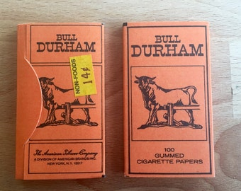 Individual Bull Durham cigarette rolling papers American Tobacco Company