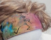 Grateful Dead  Dancing Skeleton Fabric Reversible Headband Elastic Back Hair band, Head Band, hippie, boho chic, hair wrap, headband