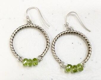 Spring Peridot Earrings
