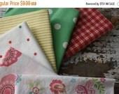 30%OFF SUPER SALE- Fat Quarter Bundle-Slumber Party 2-Reclaimed Bed Linen fabric