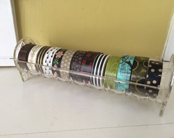 Faux Crystal Washi Tape Holder / Cracker Tray Trough / Plastic / Serving Piece