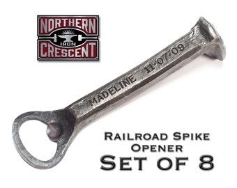 Groomsmen gift set of 8, groomsmen gifts ideas, hand forged bottle openers, wedding usher gift, wedding gifts for men, blacksmith made, B16