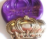 Regal Crown Silicone Mold Mould 34 mm - Vintage Ornate Polymer Clay Sugar paste Fimo Resin