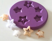 Tiny STARS 10 - 12 mm Silicone Mold Mould Polymer Clay Sugarpaste Fimo Icing Cake Decorating Fondant Resin Paper Clay Gumpaste