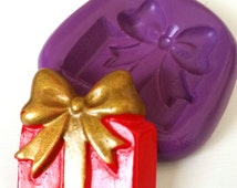 Gift Present Silicone Mould Mold Sugarcraft Icing Tool Cake Decorate Christmas Sugarpaste Modelling