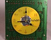 Computer Circuit Board Desk Clock (Large)