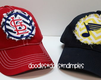 St. Louis Cardinals and Blues Rag patch baseball hat