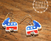 Democrat Donkey Earrings