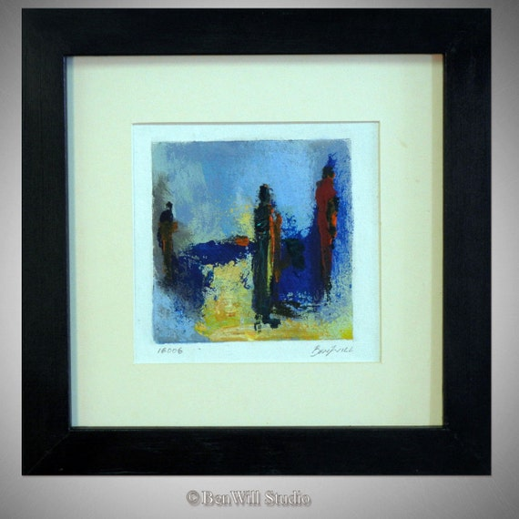 Daily Painting  ORIGINAL Modern Artwork - 14x14 Frame - Abstracct Fine Art by Ben Will