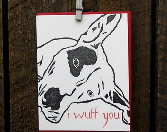 I Wuff You Letterpress Card