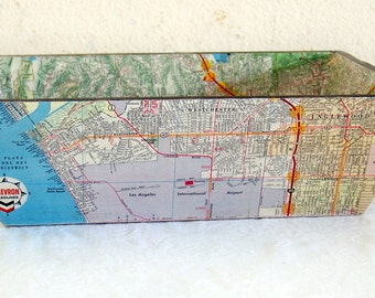 Los Angeles Vintage Map Tray