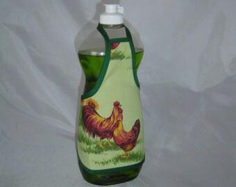 Rooster Hen Farm Decor Dish Soap Apron Bottle Cover Wrap Staffer Party Favor Lg
