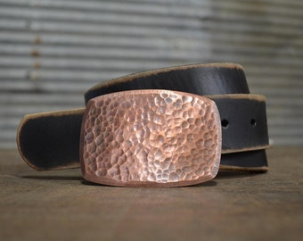 Hammered Copper Belt Buckle by Fosterweld