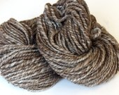 Handspun Yarn - Natural Shetland Humbug Wool 170g 156 Yards