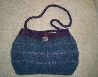 handbag, wool felted