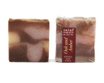 Oak and Amber Shea Butter Artisan Soap - Vegan and Cruelty Free - Sustainable Palm