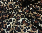 Rayon Challis Crinkle Animal Print 2 Yards