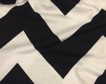 Jersey Knit Fabric Chevron Pattern 1 Yard