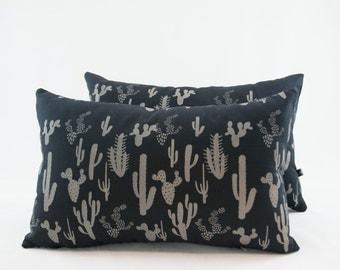 Lumbar Pillow in Cactus Print