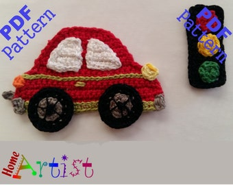 Car crochet Applique Pattern