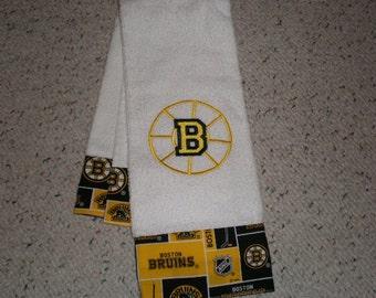Boston Bruins Hockey Terry Hand Towel