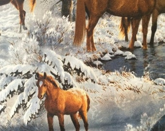 Winter Horses Hot Bowl Hot Pad
