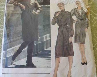 Vintage Calvin Klein Misses Dress Sewing Pattern size 12 B 34