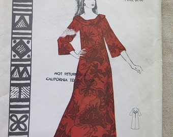 Vintage Polynesian Pattern 192 NOHEA Dress Pattern size 14 UNCUT