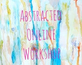 Abstracted All New Encaustic and Mixed Media Online Painting Workshop Tutorial