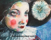 Beautiful Clown- Original painting by Maria Pace-Wynters